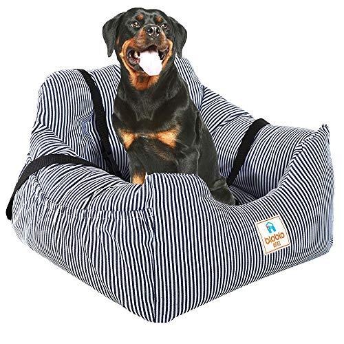 QYLT Coprisedili per Cani Auto, Pet Gatto seggiolini Auto Viaggi Auto Sicurezza Sedile, Cuccia per Cani Sfoderabile Cuscino Lavabile in Lavatrice