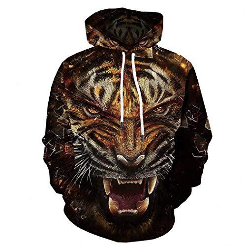 M STAR Kapuzenpullover Europäische und amerikanische Mode Jacke 3D Digitaldruck Trendige Marke Pullover Sweatshirt, 2XL