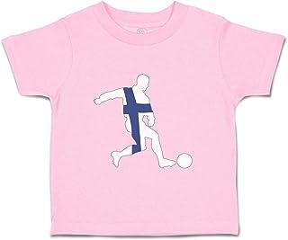 Custom Baby & Toddler T-Shirt Soccer Player Finland Cotton Boy Girl Clothes