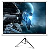 ELEPHAS M100-S Projector Screen with Stand, Portable 100 Inch 4: 3 Indoor & Outdoor Pull Down Projection...