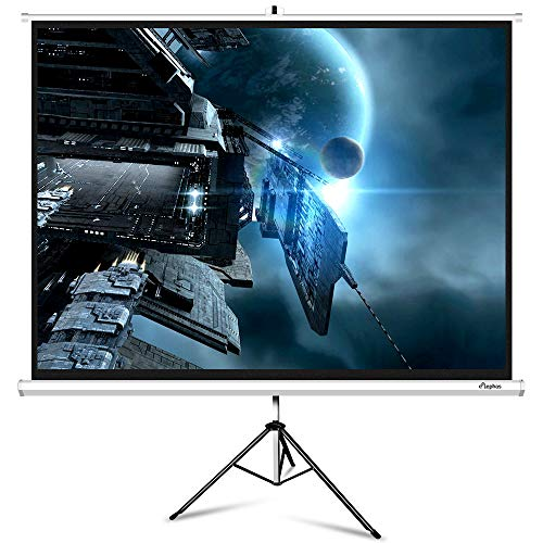 Buy Cheap ELEPHAS M100-S Projector Screen with Stand, Portable 100 Inch 4: 3 Indoor & Outdoor Pull D...
