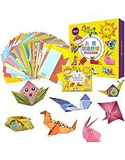 Mumoo Bear 108pcs Kids Cartoon Color Paper Folding Toys Children Kingergarden Art Craft DIY Educational Toys