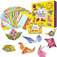 ألعاب طي الورق الكرتوني الملون للأطفال من 108 قطعة من مجموعة الحرف اليدوية والتعليمية للأطفال وطلاب الروضة