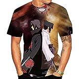 Camisetas,Ninja Anime Camiseta De Manga Corta Estampada para Hombre Cuello Redondo Cómodo Suave Unisex Color 1 Mezcla De Colores S