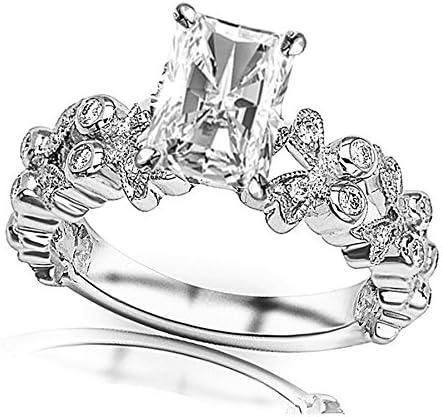 14K White Gold Virginia Beach Mall Mail order 1 Carat LAB IGI CERTIFIED GROWN DIAMOND Butterfly