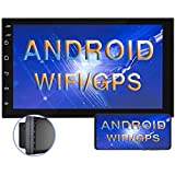 Android 9.1 Car Stereo Double Din 7 Inch Touch Screen Radio FM AM Bluetooth Receiver Supports GPS Navigation WiFi Connect Mirror Link for Android/iOS Phone
