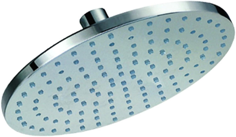 Chrome on Brass Rain Shower, Silver, 8-Inch