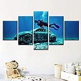 dalxsh Leinwand Poster Wandkunstwerk Cancun Unterwasser
