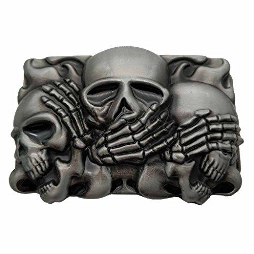 YONE Rock Punk Skull Belt Buckle Boucle de ceinture