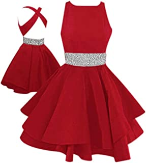 Best short beaded waist fit and flare homecoming dress Reviews
