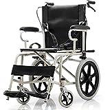 TWL LTD-Wheelchairs Rollstuhl, Der Ältere Behinderte Schwangere Frauenrollstühle Faltet, Müssen Nicht Festes Baby-Handschub-Roller 12Kg Aufblasen Tragbare Rollstühle Bienennetz-Belüftung, Schwarz -