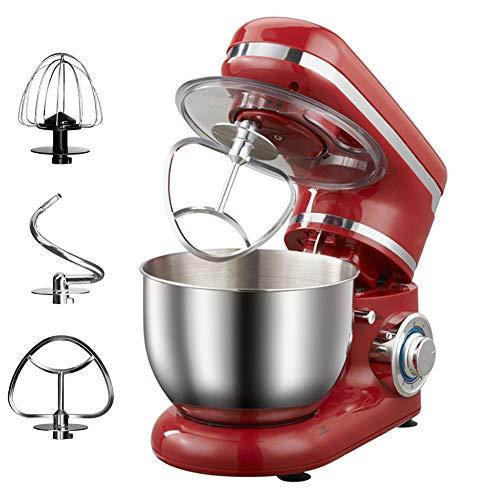 Batidora Amasadora De Pan Robot De Cocina Universal, Batidora De Crema De Acero Inoxidable De 7 Velocidades, Incluye Batidor De Alambre, Batidor Plano, Gancho Para Masa, 4 Litros, 1200 W