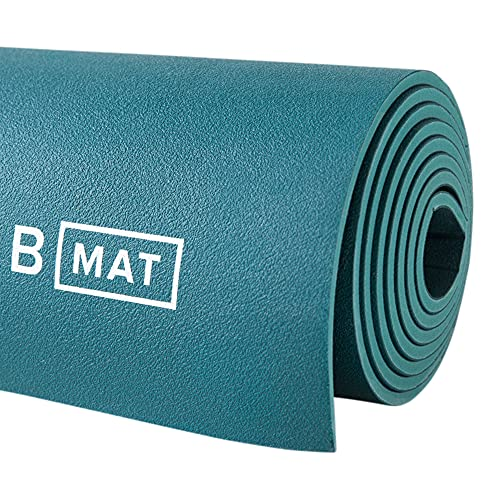 """B YOGA Mat for Men and Women, 6mm Thick, 71"""" x 26"""", Ocean Green - 100% Rubber, Non-Slip Floor Workout Mat for Yogis, with Superior Cushioning for Comfort - Premium Fitness and Pilates"""