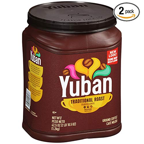 Yuban Ground Coffee Traditional Medium Roast, 42.5 Ounce (Pack of 2)