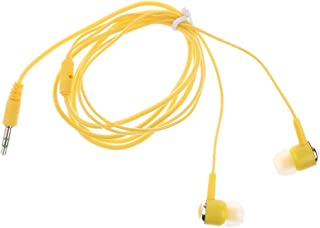 Baosity High Quality Candy Color 3.5mm in-Ear Sound Bass Earbuds Earphone Wire + - Yellow