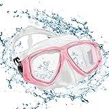 KOROSTRO Taucherbrille Erwachsene, Anti-Fog Schnorchelbrille Schwimmbrille Tauchmaske, Wasserdicht, Lecksicher, UV Schutz, Verstellbares Silikonband,...
