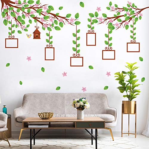 Wall Sticker DIY Happy Family Photo Album on The Wall Beautiful Flower for Living Room Bedroom Kitchen Wedding Decoration Decal