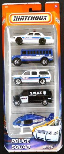 Matchbox Police Squad No:10 5pk Diecast Vehicle Set
