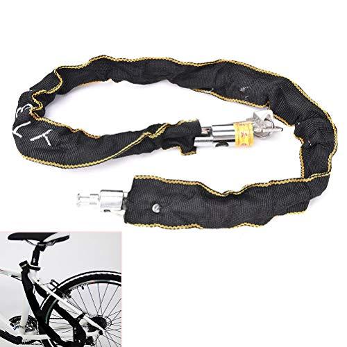 N\A Candado de Bici, Moto Motocicleta Scooter Bicicleta Ciclo de Bicicleta Motor Cadena de Bicicleta Pad Lock Security Cadena de Hierro en el Interior