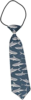 MrDecor School Boys Kids Children Baby Wedding Banquet Shark Elastic Necktie