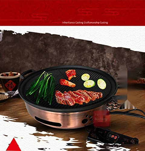 Koreanisch-Art Gewerbe Smoke-Free Grillpfanne, Kohle Feuer Restaurant Gusseisen Innen Self-Service Cooker Strom Restaurant Integrated Herd,Charcoal fire version