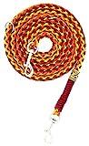 Hundeleine Balu aus Paracord, Führleine, Individuelle Länge, 4 Farben frei Kombinierbar, 1.50 Zentimeter breit, Handgeflochten, Mehrfach Verstellbar