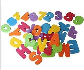 Pulabo 36 unids/set de juguete de baño para niños flotante letras alfanuméricas rompecabezas números suaves etiqueta engom...