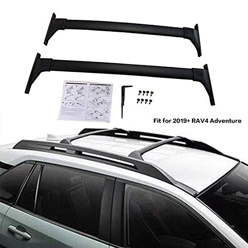 Roof Racks Cross Bars Carrier Rails Roof Bar Black for Nissan Armada 2017