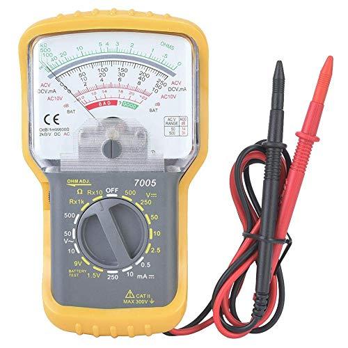 ZJN-JN Multimetro Digitale elettronico, KT7005 Portatile Manuale Integrato Gamma Multimetri analogici con Coperchio di Protezione Test Elettrico di Tensione Tester