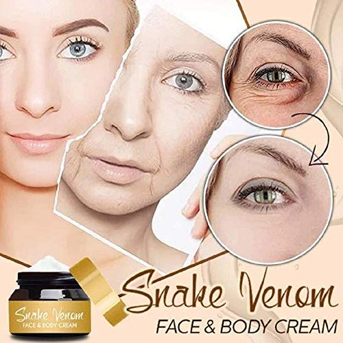 OADAA 2PCS Snake Venom Face & Body Cream, Moisturize Smooth and Tightening Skin, Anti-Aging Minimises Wrinkles, Reduce Dark Circles, Puffiness and Eye Bags