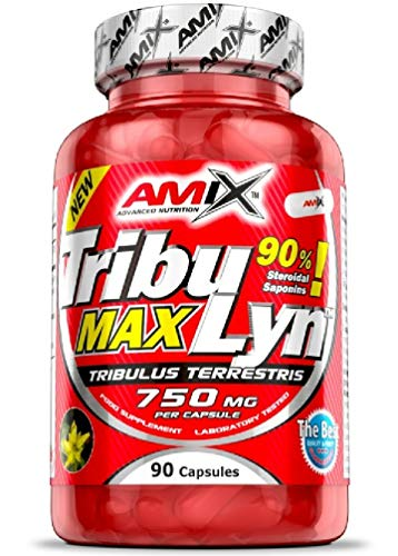 Amix - Tribulyn 90% - Suplemento Alimenticio - Aumenta la Fuerza y los Niveles de Testosterona - Desarrolla la Masa Muscular - Complemento Natural - Nutrición Deportiva - Contiene 90 Cápsulas