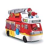 VTech - Tut Tut Copains - Super Camion Caserne de Pompiers, échelle, camion, hélicoptère