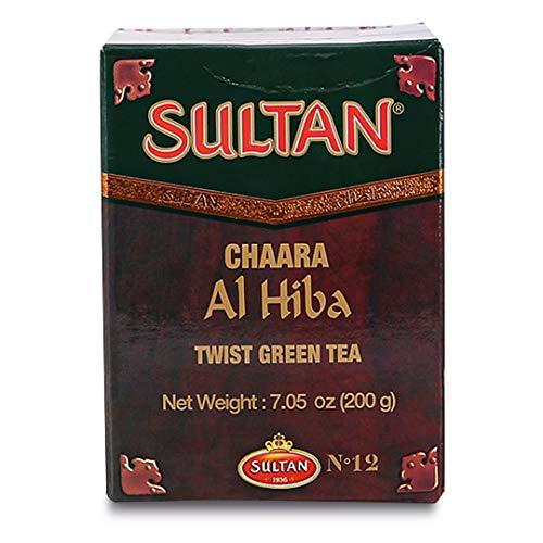 TÉ SULTÁN Chaara Al Hiba marroquí Twist Té Verde Suelto, tés de Hierbas (Paquete Individual - 200g)