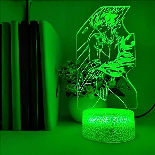 Glowing Comic Academy Modellierung Cracked Base Kreative Kleine Tischlampe Kreative Dekorative Lampe Acryl Mehrfarbige Nachtlicht-LED-Lampe Mehrfarbige Tischlampe