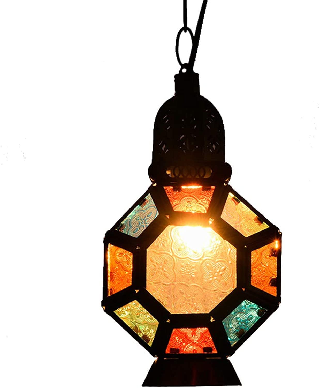 ZSSM Marokkanische Glaslampe Farbiges Glas & Eisenmosaik Farbwechsel Tragbare hngen Lounge KTV Tee Restaurant Dekoration Tischleuchte