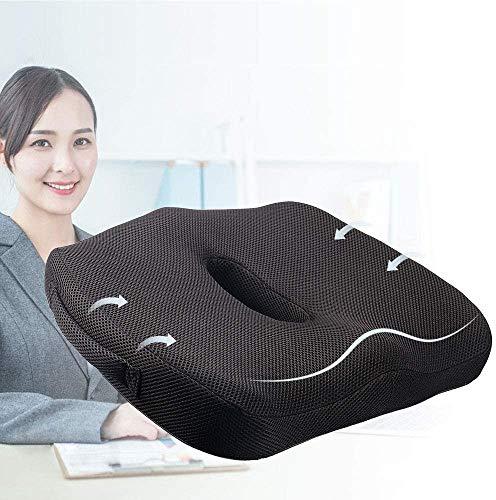 ZOUSHUAIDEDIAN Amortiguador de asiento - 100% de espuma de memoria almohada, for el coche, y sillones de oficina Inicio - Alivia el coxis, rabadilla, ciática, dolor de espalda y mejora la postura, Rec