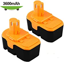 [Upgraded 3600mAh] P100 Replace for Ryobi 18V Battery One+ P101 ABP1803 1322401 1400672 13022 1323303 130255004 130224028 130224007 Cordless Power Tools - 2 Packs