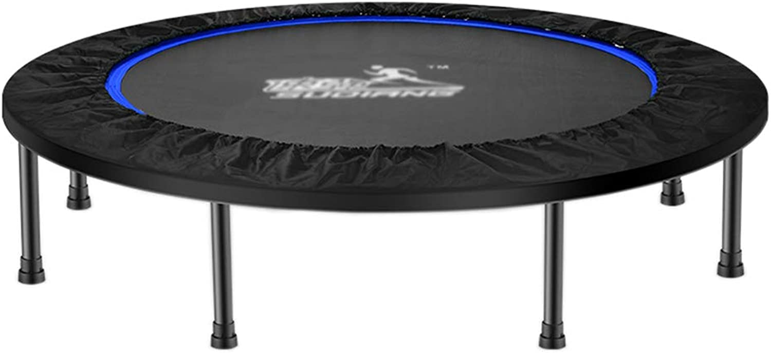 Indoor Trampolines Trampoline Indoor Trampoline Folding Trampoline Home Adult Fitness Strong WeightBearing Trampoline Indoor Sports Weight Loss Trampoline (color   blueee, Size   114  114  25cm)