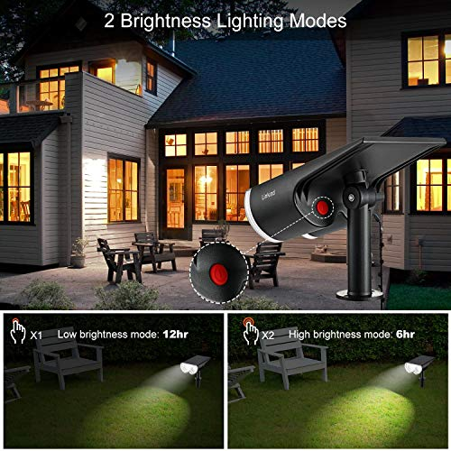 Linkind 16 LEDs Solar Landscape Spotlights, Dusk-to-Dawn IP67 Waterproof Solar Powered Spot Lights, 6500K Daylight, Outdoor Wall Lights for Garden Yard Driveway Porch Walkway, 4 Pack