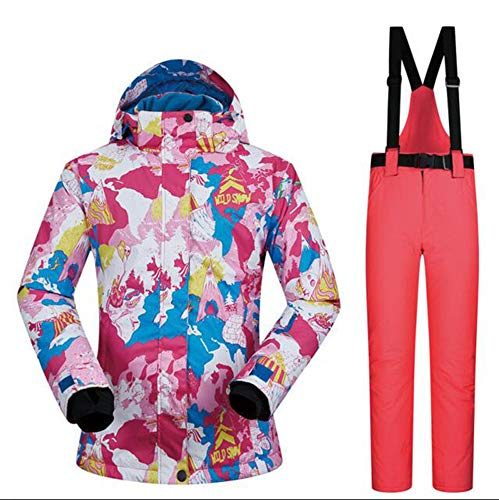 AQWWHY De Haute qualité Ski Suit Femmes Coupe-Vent Imperméable À l'eau Chaleur Respirant Veste Et Pantalon d'hiver Ski Ensembles Snowboard Costumes