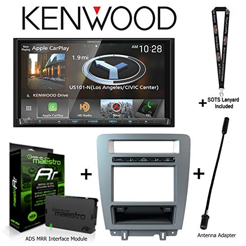 """Kenwood DNX875S 6.95"""" Navigation Apple CarPlay/Android Auto, iDatalink KIT-MUS1 Factory Integration Adapter for Select Ford Mustang, ADS-MRR Interface Module, BAA21 Antenna Adapter + SOTS Lanyard"""