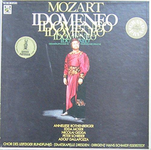 Mozart: IDOMENEO (Gesamtaufnahme in italienischer Sprache: Dresden, Lukaskirche, 1971) [Vinyl Schallplatte] [4 LP Box-Set]