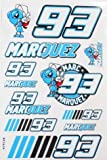 MARQUEZ 93 stickers decals adhesivo blue color - 1 sheet