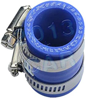 Compatible with for Yamaha Banshee All Years FMF,dg,etc. Blue - 1x Rubber Exhaust Pipe Clamp 1