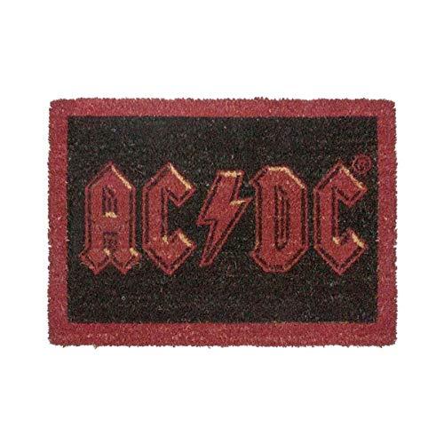 ootb Door Mat Alfombra para Puerta de Entrada, con Logo AC-DC, Fibra de Coco, Multicolor, 40 x 60 cm