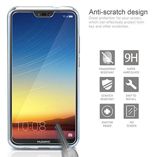 Cover Huawei P20 Lite Custodia + Pellicola Protettiva in Vetro Temperato , Leathlux Morbido Trasparente Silicone Custodie Protettivo TPU Gel...