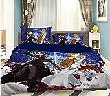 AJ WALLPAPER 3D Sword Art Online 309 Japan Anime Game Sommer Bettwäsche Kopfkissen, Steppdecke Bettbezug Set Queen King | 3D-Foto Bettwäsche DE Amy (Komfortgröße)