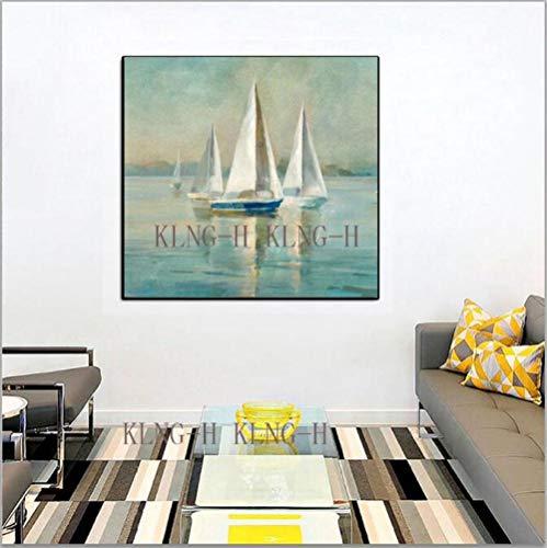Home Kitchen Store Messer Schiff Moderne abstrakte Ölgemälde Bilder Handmalerei malen die Wand Hotel Lobby Sofa Wohnzimmer Schmuck home-70x70CM_KH1