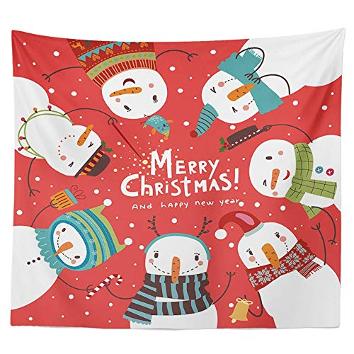 Jwkcm Christmas Tapestry, Home Wall, Polyester Tapestry, A Variety of Styles (120 × 150Cm, 47.2 × 59Inch),A