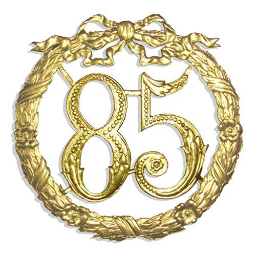 Walter Kunze Jubiläumszahl 85, Ø 24 cm, Gold, Jubiläumskranz
